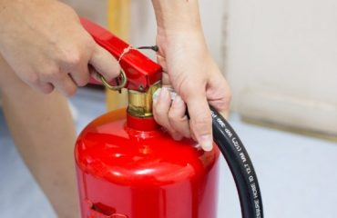 How often should fire extinguisher training be done?